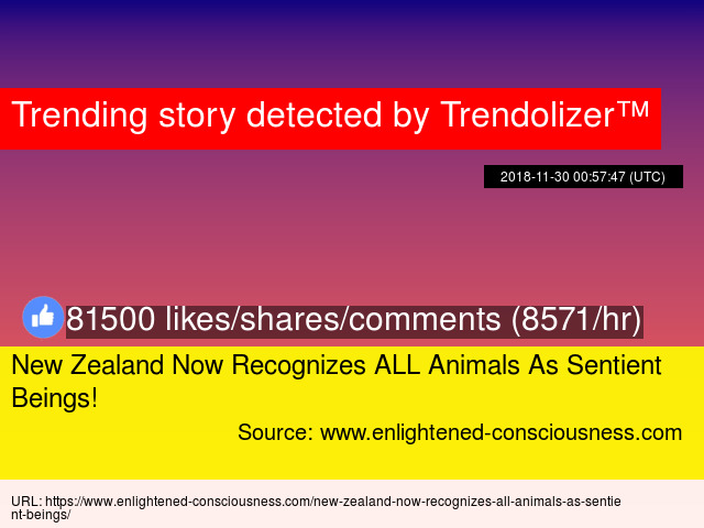 New Zealand Now Recognizes ALL Animals As Sentient Beings!
