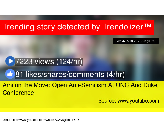 Ami on the Move: Open Anti-Semitism At UNC And Duke Conference