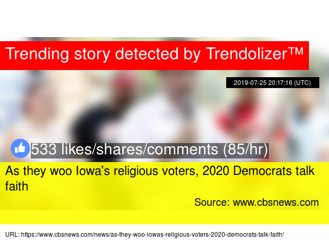 As they woo Iowa's religious voters, 2020 Democrats talk faith