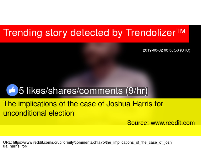 The implications of the case of Joshua Harris for