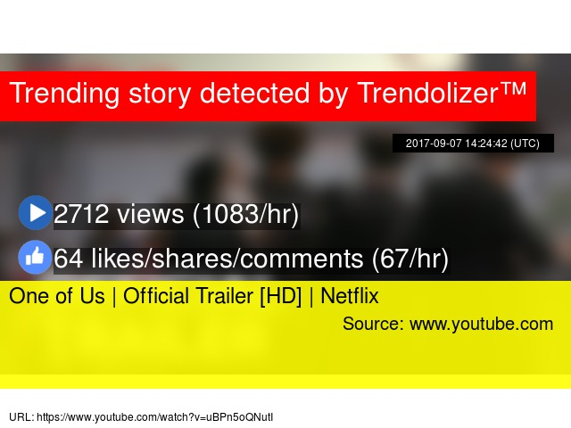 One of Us | Official Trailer [HD] | Netflix - Stats